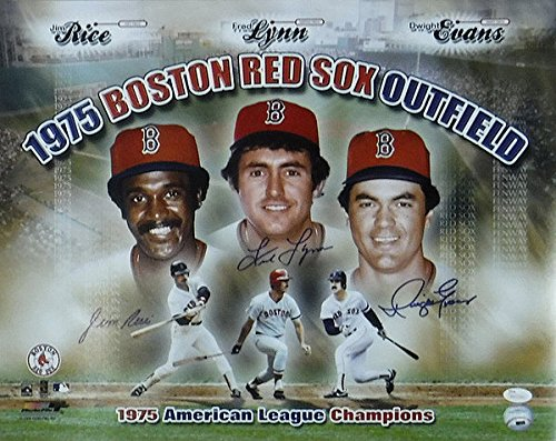 Red-Sox-Outfield-Rice-Lynn-Evans-16-x-20-Photograph-JSA-Authenticated