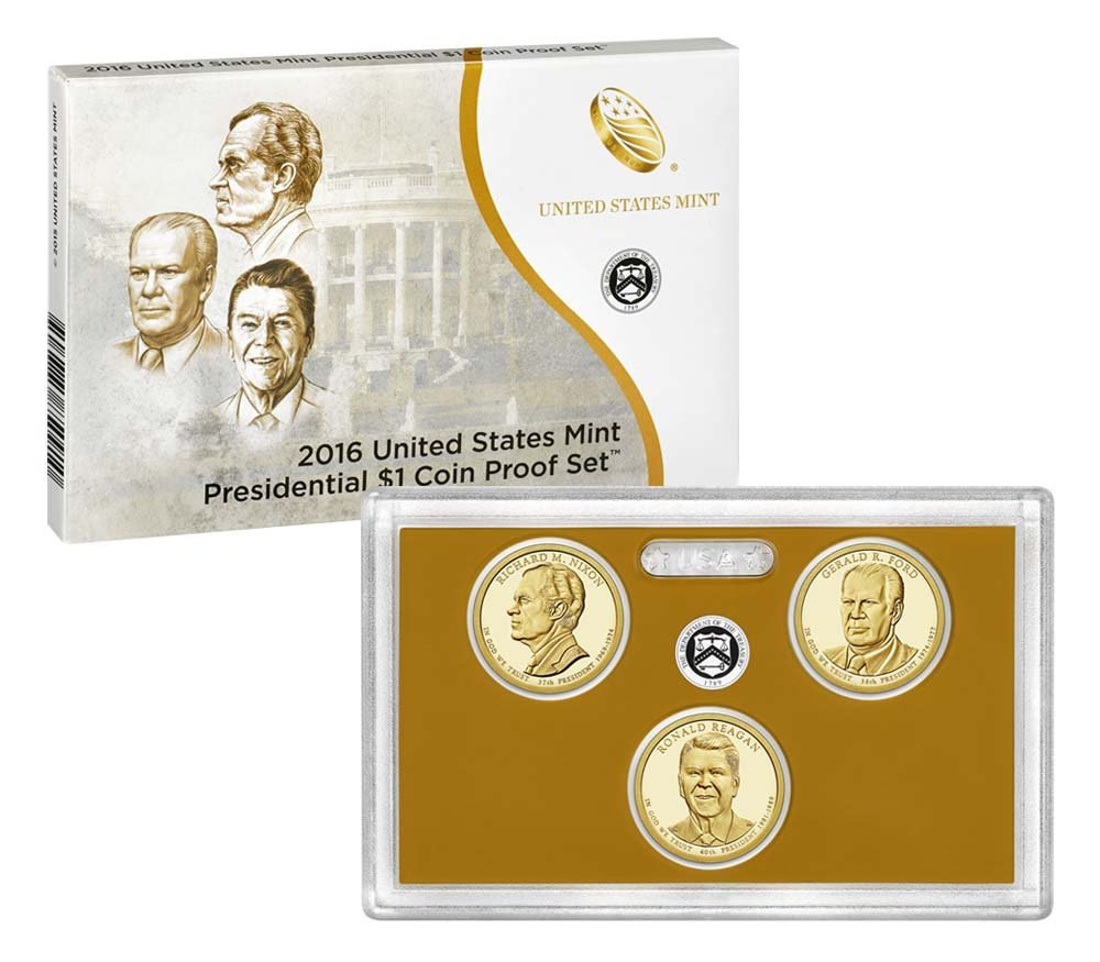 2016 S US Mint Presidential $1 Coin Proof Set OGP