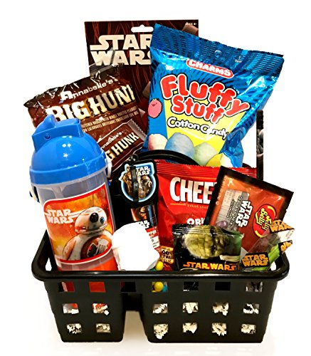 Toddler's - For Toddler - For Young Child - For Boy or Girl - Filled Christmas Gift Basket- Lots Of Fun for Celebrating Christmas and Holiday Activities! (Star Wars - BB8)
