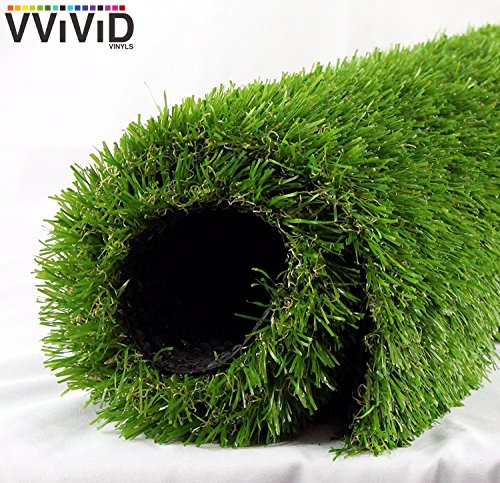VViViD Artificial Grass Synthetic Weatherproof Vinyl Turf Mat Roll (12ft x 40 Inch (39.9sq/ft))