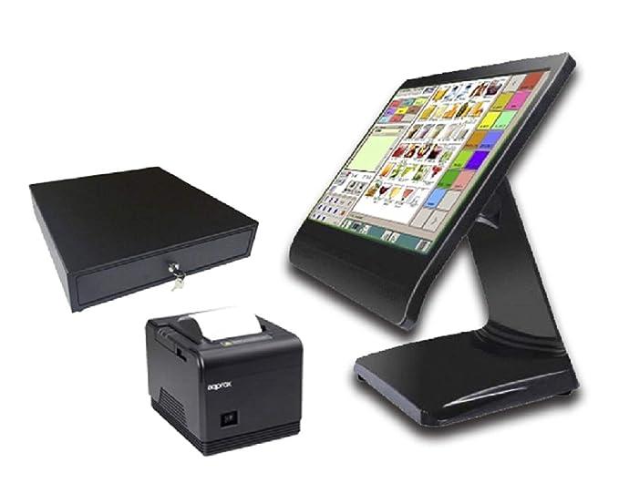 TPV hostelería táctil Completo + cajón + Impresora 80mm + ...