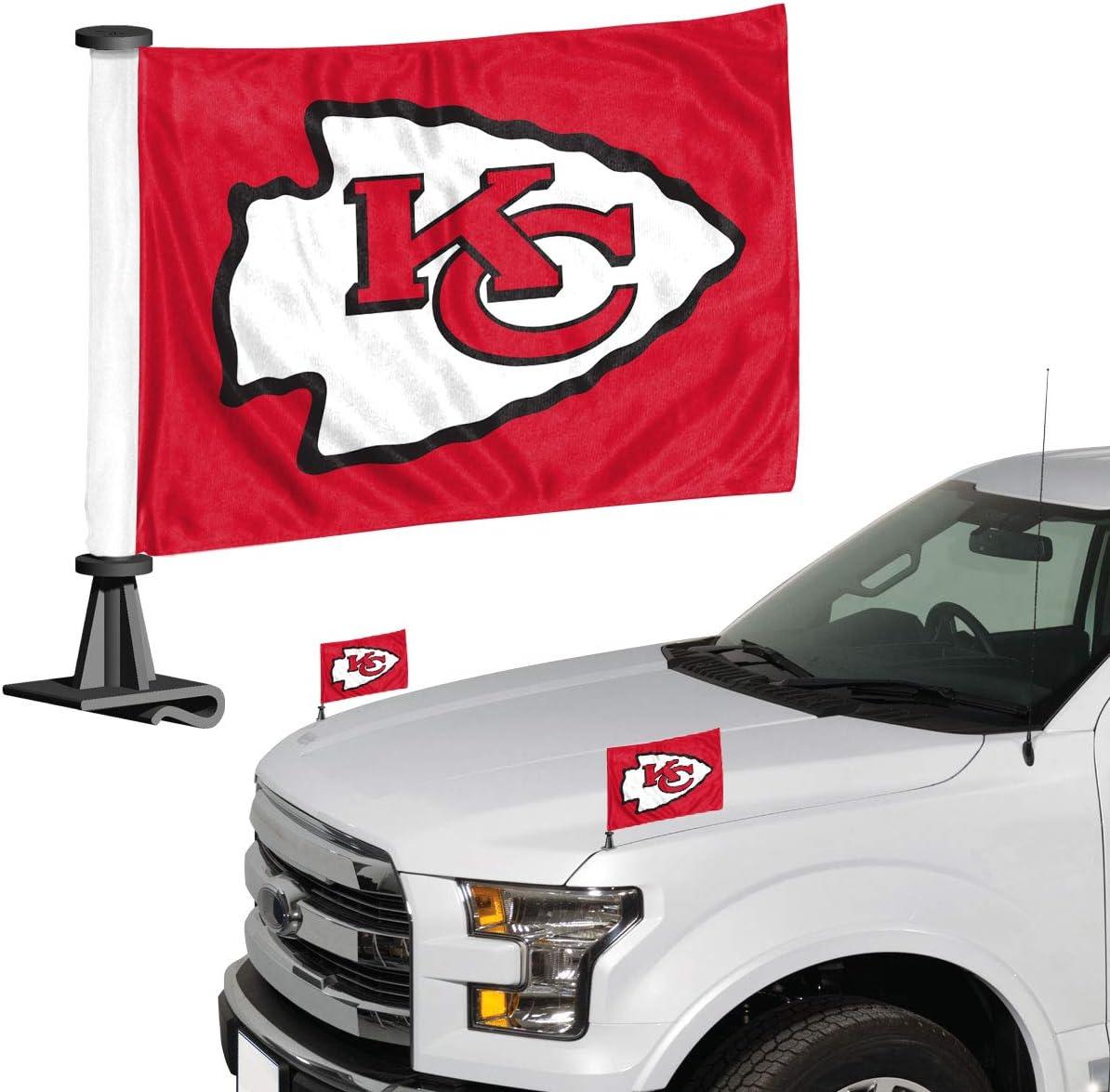 Team Color One Size ProMark NFL Kansas City Chiefs Flag Set 2-Piece Ambassador Style