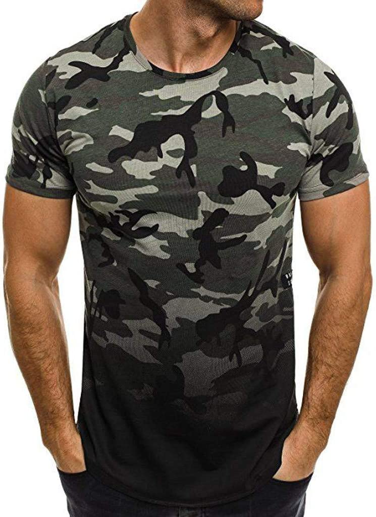 Bibao - Camisa de manga corta para hombre, diseño de camuflaje ...