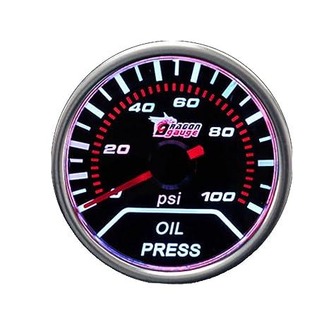 """2/"""" 52mm Car Universal Pointer Water Temp Gauge Meter Smoke Tint Len LED"""