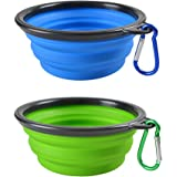 Pocopet Collapsible Dog Cat Pet Bowls , Food Grade Silicone BPA FREE, Dishwasher Safe, Perfect Foldable & Expandable , Travel Pet Bowls for Journey, Hiking, kennels& Camping.