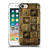Official HBO Game of Thrones All Houses Golden Sigils Soft Gel Case for iPhone 7 / iPhone 8