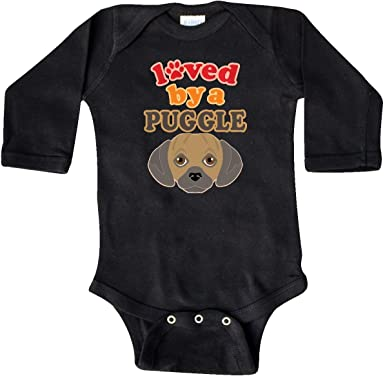 Baby Infant Toddler Cotton Long Sleeve Retro RWnB Puggle Silhouette Climb Romper Funny Printed Romper Clothes