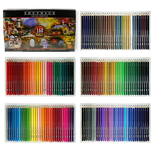 160 Colors Wood Colored Pencils Set Artist Painting Oil Based Pencil for School Drawing Sketching Art Supplies ...