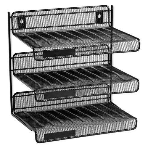 Wholesale CASE of 10 - Rolodex Mesh 3 Tier Desk Shelf Units-3 Tier Desk Shelf, Mesh, 12-1/2