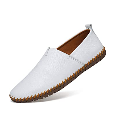 5a4ecdd91ea Big Size Summer Causal Shoes Men Loafers Genuine Leather Moccasins Mens  Driving Shoes Soft Slip on