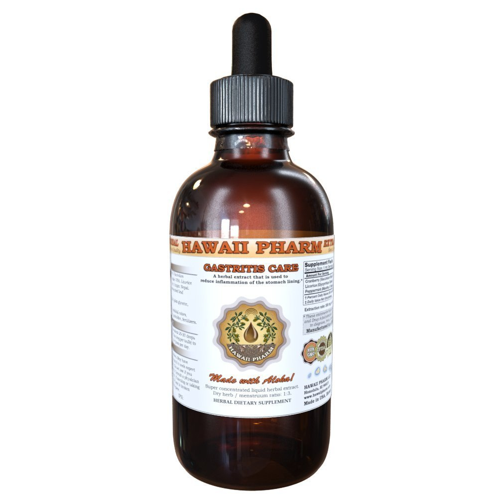 Gastritis Care Liquid Extract, Cranberry (Vaccinium Macrocarpon) Berry, Licorice (Glycyrrhiza Glabra) Root, Peppermint (Mentha X Piperita) Leaf Tincture Supplement 4 oz