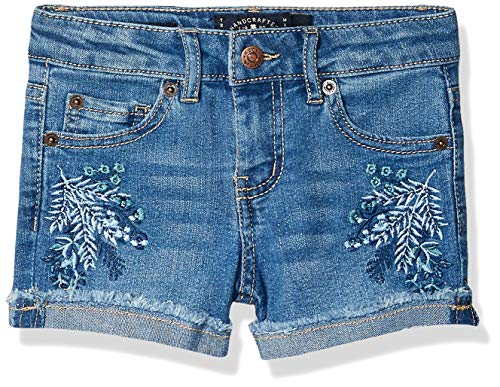 Lucky Brand Toddler Girls' Fashion Denim Shorts, Brandi Ryder, 4T ()