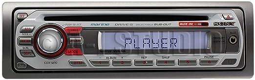 61lw34fxd6L._SX522_ amazon com sony cdxm10 marine cd receiver slot (discontinued by sony cdx-m10 wiring harness at honlapkeszites.co