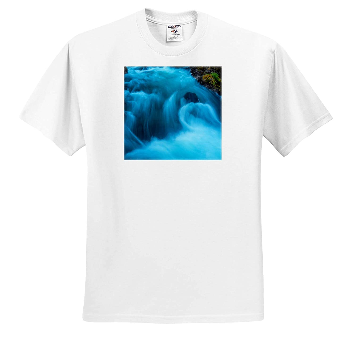 River Water Flowing Around Rock Landscapes Adult T-Shirt XL 3dRose Mike Swindle Photography ts/_309073