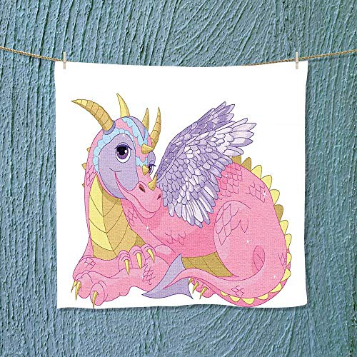 Leighhome Hand Towel Beautiful Coon Lady Dragon Quick-Dry To