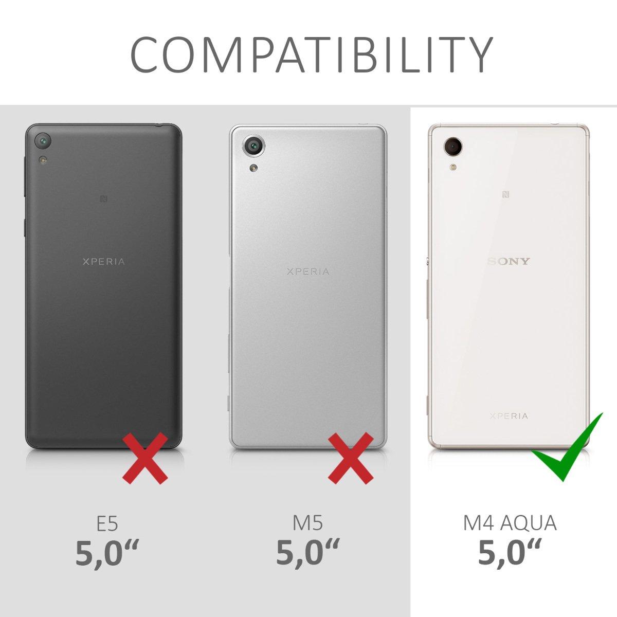kwmobile Funda para Sony Xperia M4 Aqua - Carcasa de [TPU] para móvil y diseño galáctico Rosa Fucsia/Negro