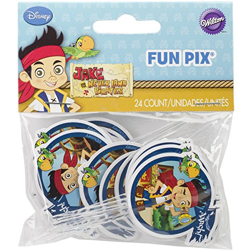 Wilton 2113-2375 Disney Jake and The Never Land Pirates Fun Pix Cupcake Decor -