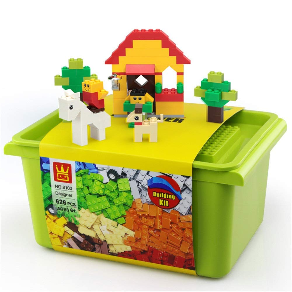 ZnMig Children 3-12 Years Old Children Assembled Small Particles Storage Boxed Plastic Boy Toys Early Education Puzzle Building Blocks Toys (Color : Multi-Colored, Size : One Size)