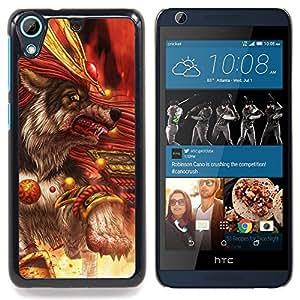 For HTC Desire 626 & 626s - Killer Wolf Warrior Blood /Modelo de la piel protectora de la cubierta del caso/ - Super Marley Shop -