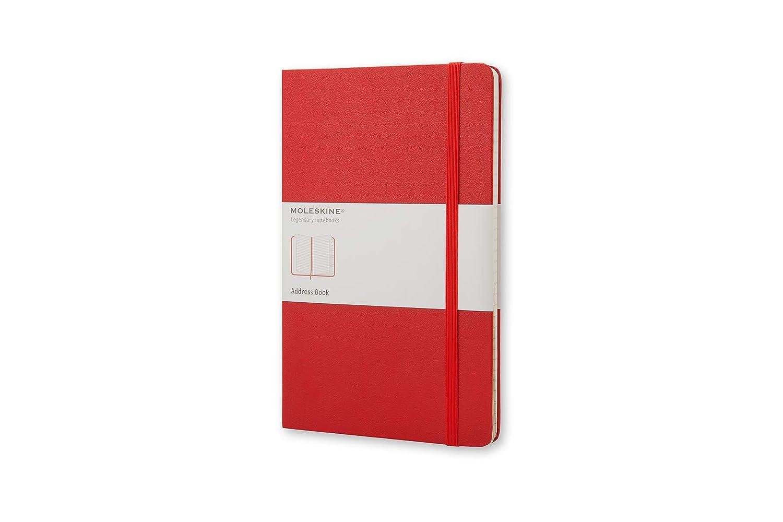 Moleskine QP064R - Agenda de direcciones, Grande, tapa dura, rojo