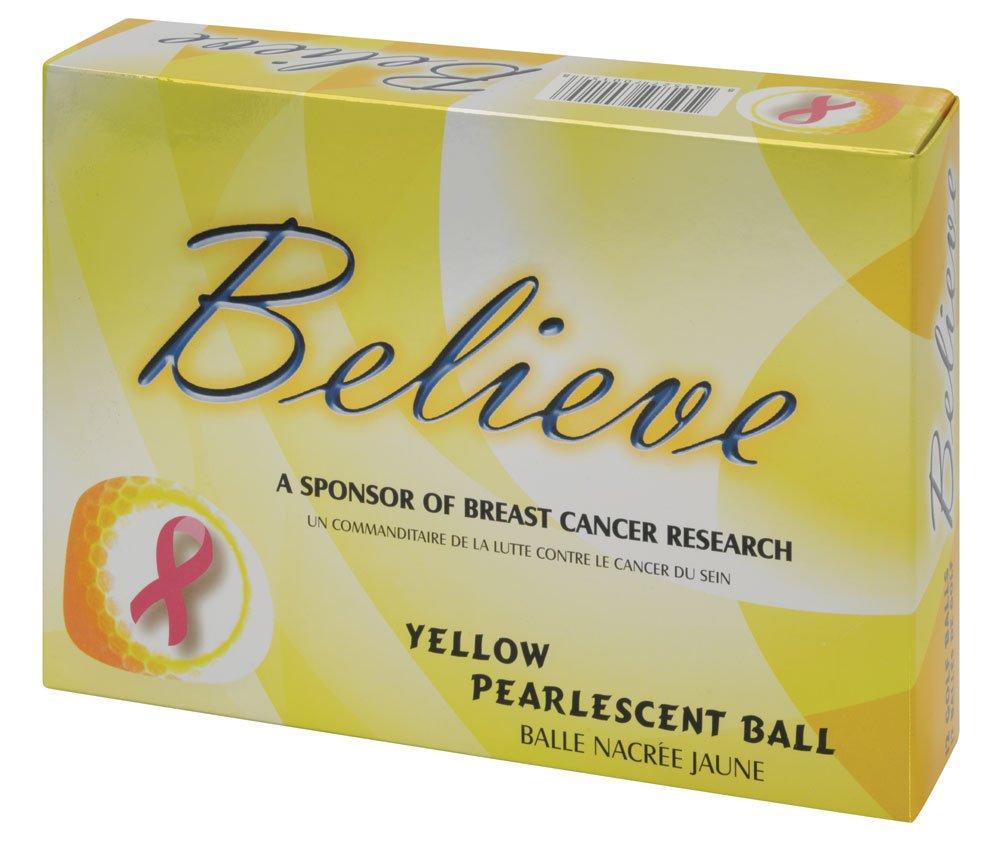 Believe Ladies Pearlescentゴルフボール – 3ダース B00TSSJDAI イエロー