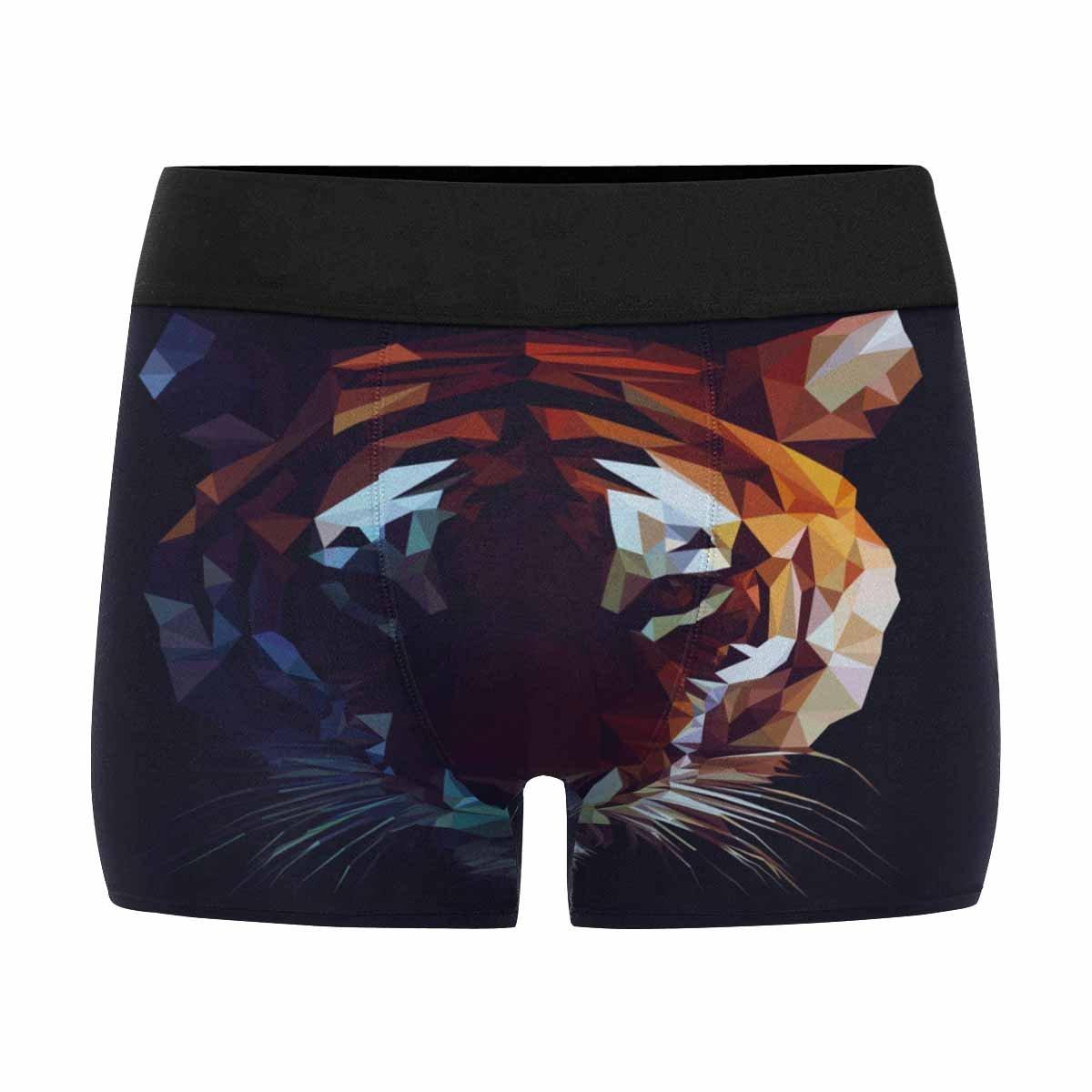 XS-3XL INTERESTPRINT Mens All-Over Print Boxer Briefs Low Poly Tiger Art Print