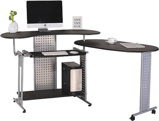 HOMCOM Ordenador Mesa Escritorio Esquina Mesa Oficina Mesa de ...