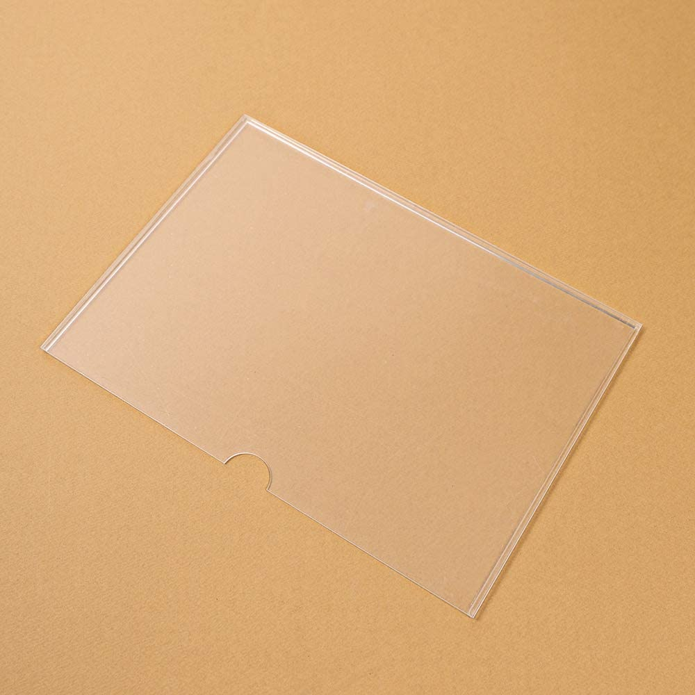 Acrylic Horizontal Wall Sign Holders Mount Frame 11 x 8.5 Inches TPTK62830