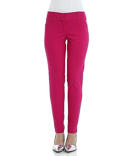 SATINATO Slim Fit Mujer Pantalones Ceñidos Skinny De Vestir Elegantes Oficina Profesional