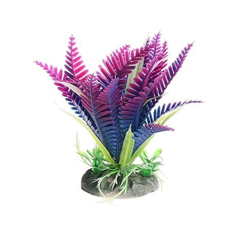 CADANIA Plantas acuáticas Flores de Navidad Acuario de Peces Acuario Decoración de Primer Plano 2T -