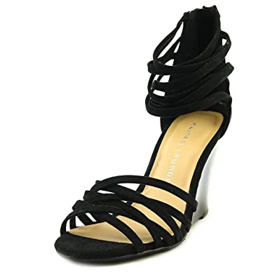 Chinese Laundry Womens caroline Open Toe Ankle Strap micro black Size 7.5