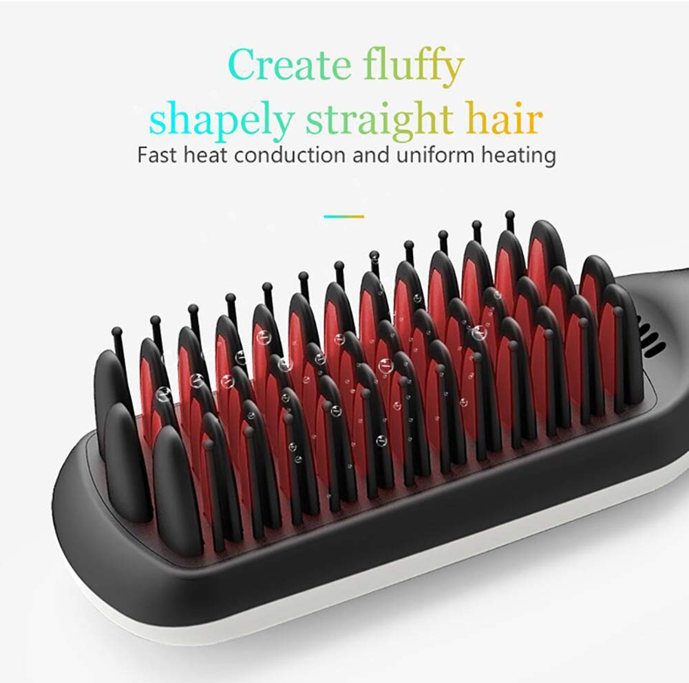 CHERRIESU Negative Ionic Hair Straightening Brush Ceramic Detangling Comb Anion Digitial LED Hair Care, Fast Heating, Anti-Scald Hair Brush 220V by CHERRIESU (Image #7)