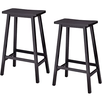 Amazon Com Costway 29 Inch Vintage Wood Bar Stool Dining