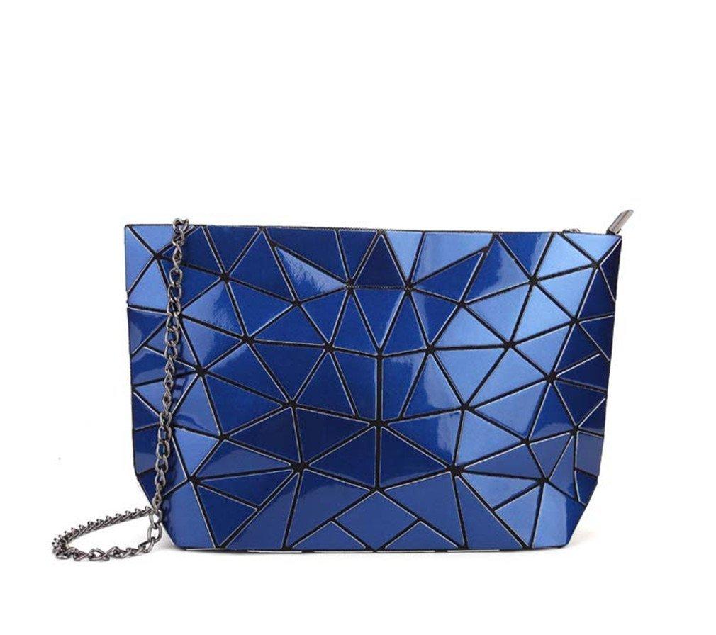 Women's Handbag Shoulder Bag Geometry Handbags Women Totes Royal Blue