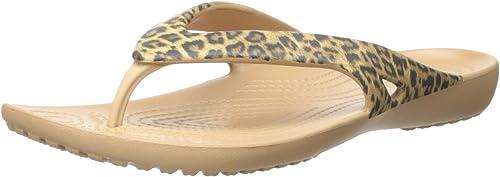 crocs leopard print flip flop