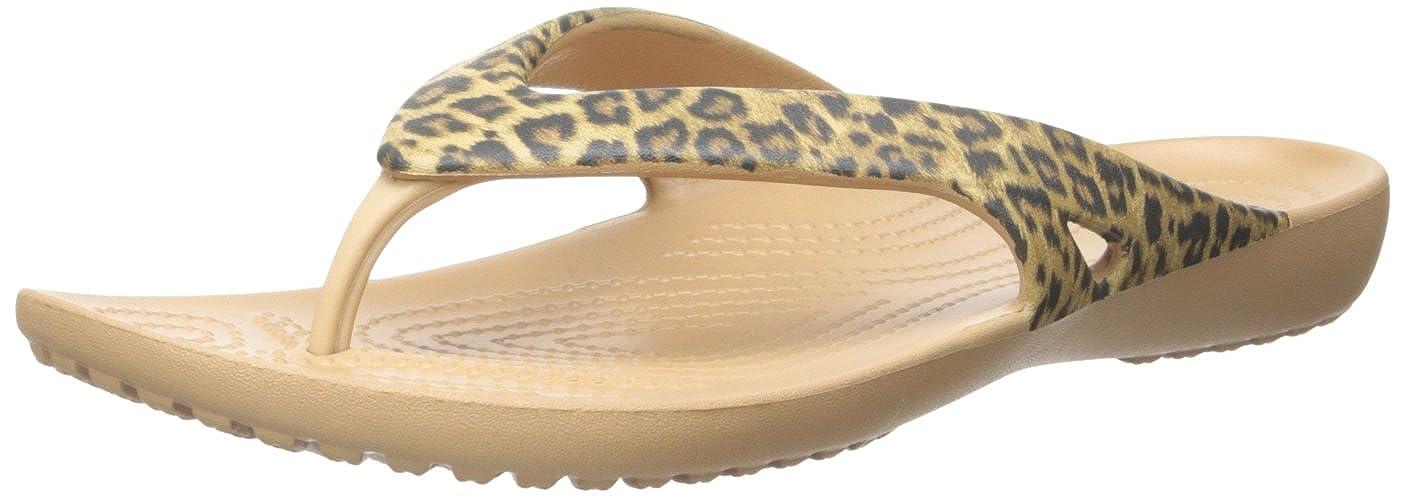 leopard print croc flip flops