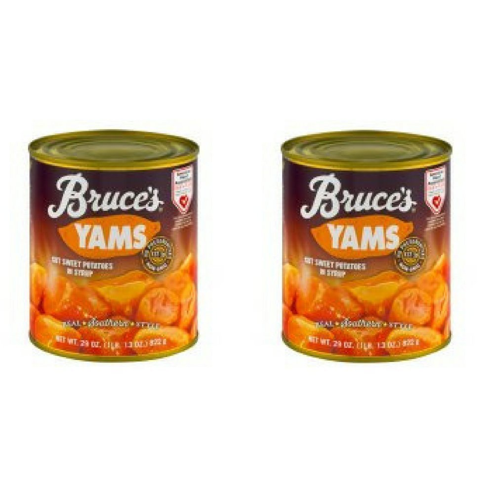 Bruce's Yams Cut Sweet Potatoes in Syrup, 29.0 OZ - Pack of 2