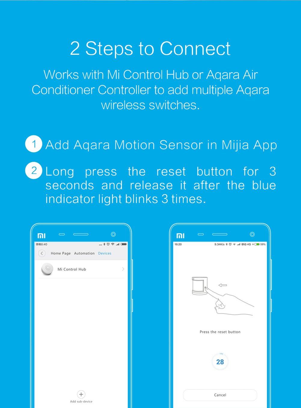 Sensor de movimiento luz nocturna, se adhiere a cuerpo de movimiento inalámbrica WiFi conexión de noche luz auto encendido/apagado y adhesiva de pared para ...