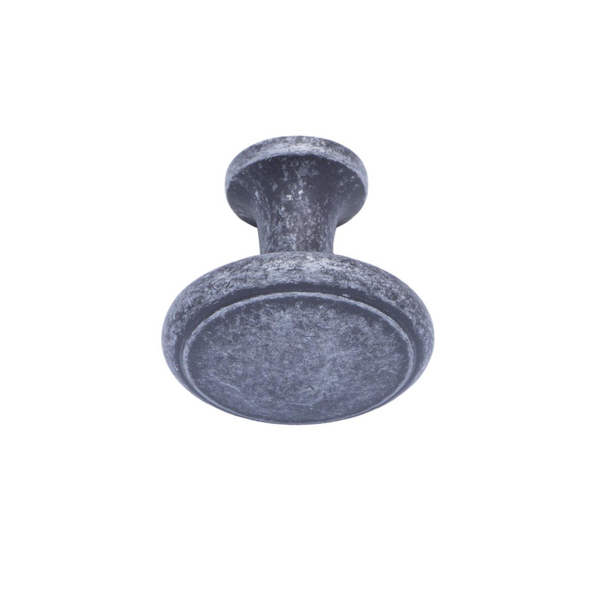 Basics Bouton de placard Moderne Motif anneau Diam/ètre : 2,95 cm Noir Lot de 25