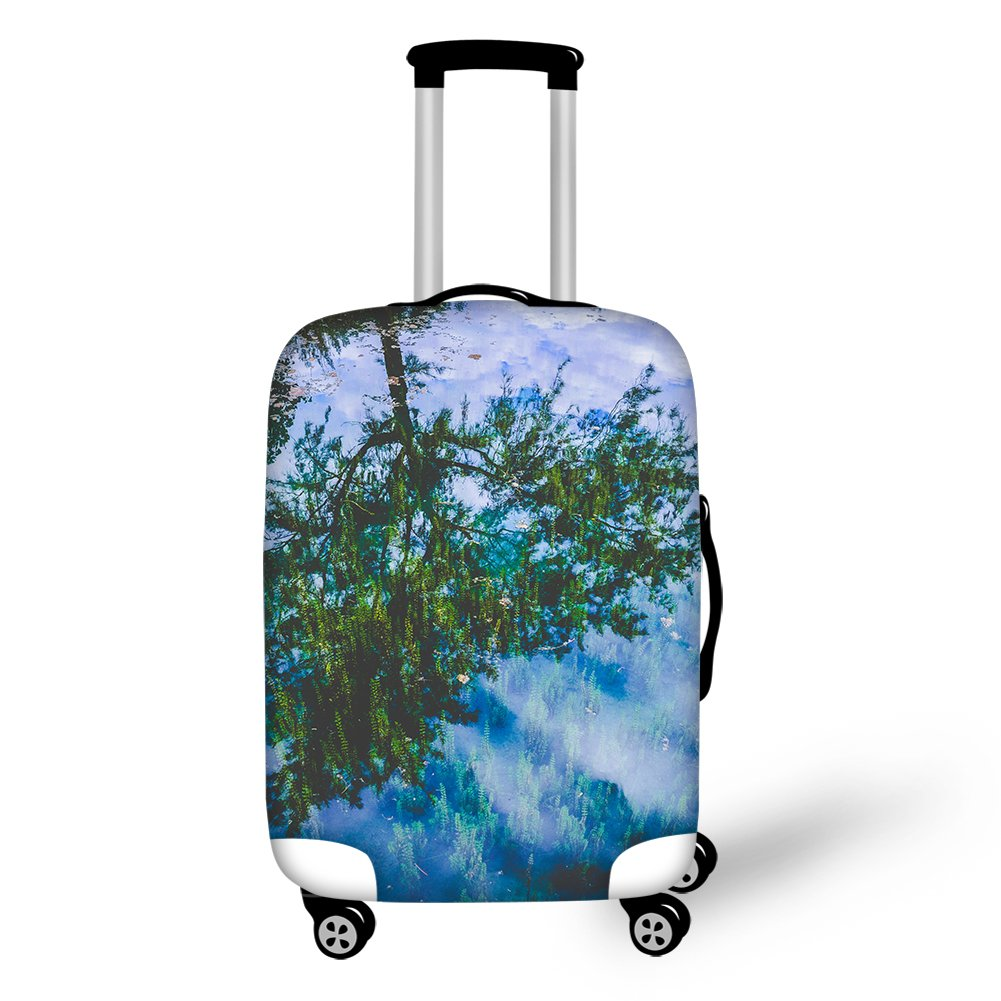 Showudesigns Personalized Flower Anti-dust Foldable Luggage Travel Suitcase Cover Z-CC3455SML