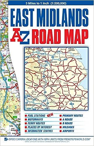 East Midlands Road Map AZ Road Map Geographers AZ Map Co Ltd