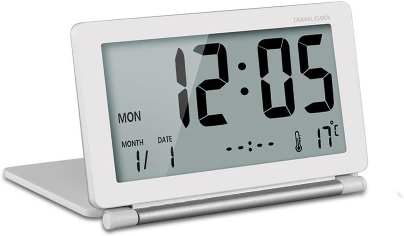 AZX Orologio da viaggio pieghevole ultra sottile mini sveglia digitale LCD Display temperatura snooze calendario funzione per ufficio viaggi Cruz V2 Fresh Foam