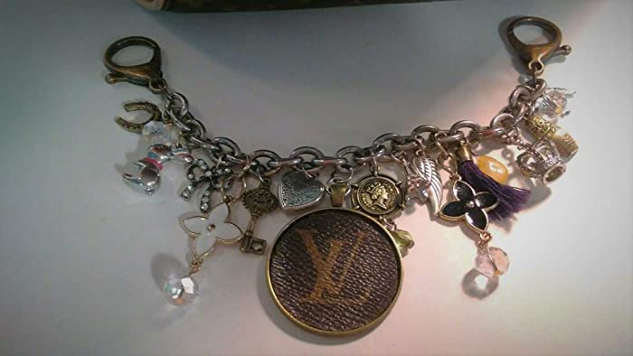 4ce18779 Amazon.com: 74! Louis Vuitton upcycle Charm, Fleur de Lis ...