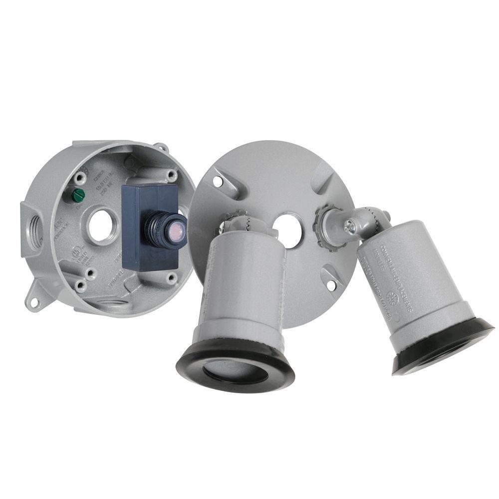 Hubbell-Bell LTP233S Weatherproof Lampholder Kit, Gray
