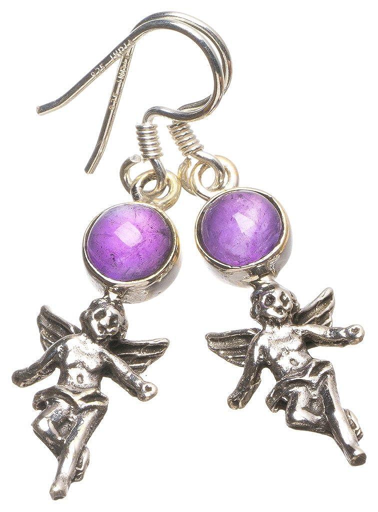 Romans Birthstone Angel Charm Pendant Bracelet Ladies Jewelry February Amethyst