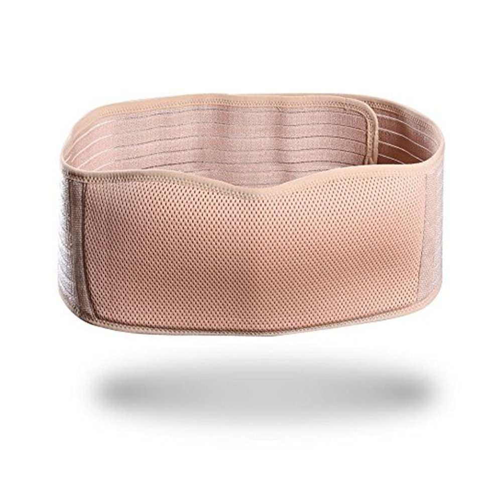 Maternity Belt Breathable Lightweight Abdominal Binder Back Support Comfortable Belly Band for Pregnancy One Size Beige by Sanky (Image #4)