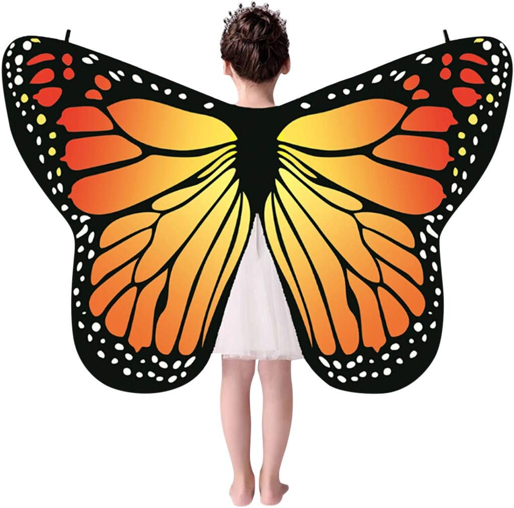Womens Butterfly Wings Shawl Scarves Ladies Nymph Pixie Poncho Costume Accessory