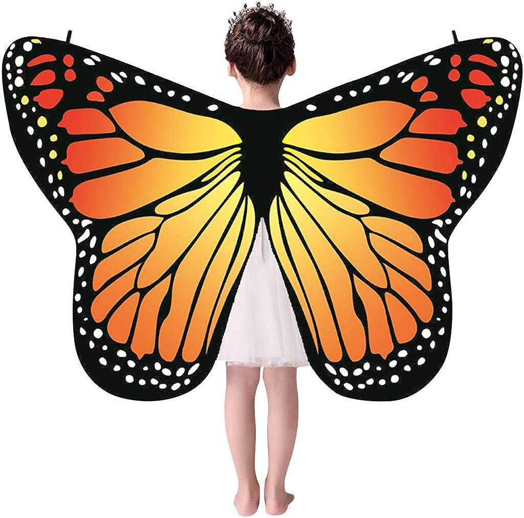 KiyomiQvQ Faschingskost/üme Kinder Kind Baby M/ädchen Schmetterlingsfl/ügel Schal Schals Nymphe Pixie Poncho Kost/ümzubeh/ör Schmetterling Kost/üm m/ädchen Schmetterling Kost/üm Kinder fasching