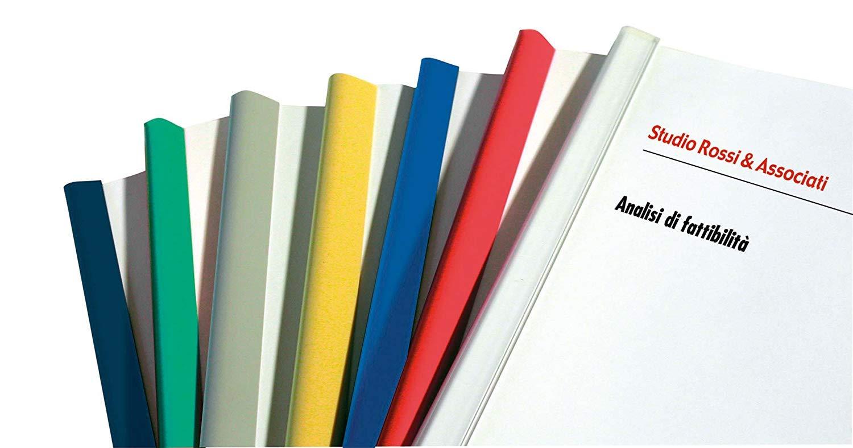 3 50 DORSI PIATTI IN PLASTICA DI ALTA QUALITA ROSSO 29.7cm PER RILEGATURA DORSI DORSETTI LISTELLI MOD