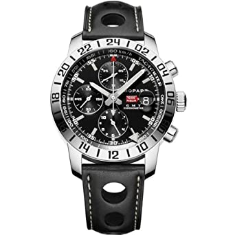 60eae346af28 Image Unavailable. Image not available for. Color  Chopard Mille Miglia GMT  Steel Black Chronograph Mens Watch 168992-3001
